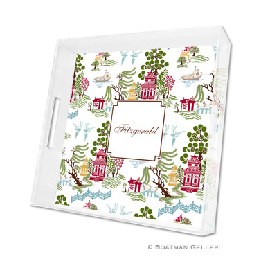 Chinoiserie Autumn Square Tray