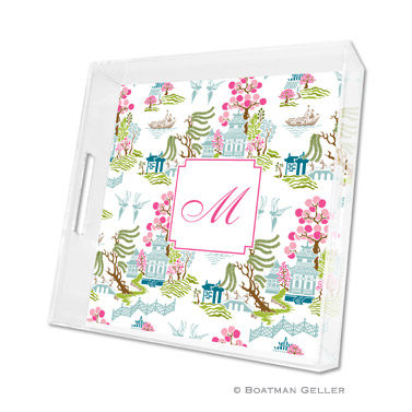 Chinoiserie Spring Square Tray