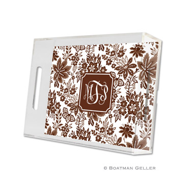 Classic Floral Brown Small Tray