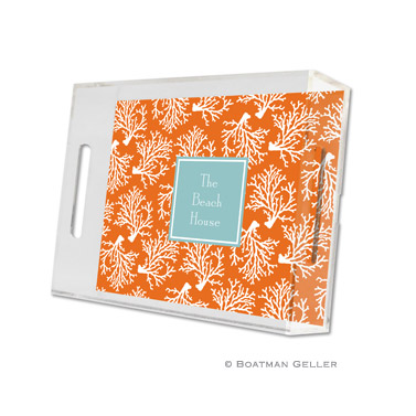 Coral Repeat Small Tray