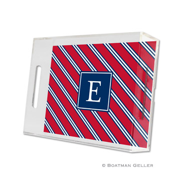 Repp Tie Red & Navy Small Tray