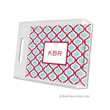 Kate Red & Teal Small Tray