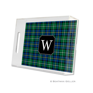 Black Watch Plaid Holiday Tray