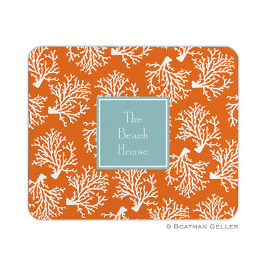 Coral Repeat Mouse Pad by Boatman Geller