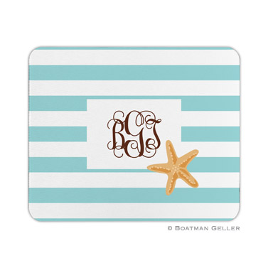 Stripe Starfish Mouse Pad by Boatman Geller