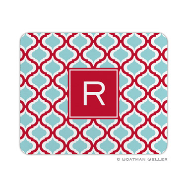 Kate Red & Teal Mouse Pad