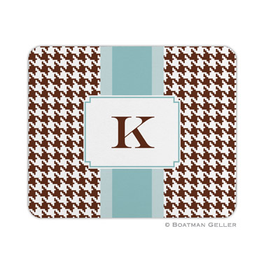 Alex Houndstooth Chocolate Mouse Pad