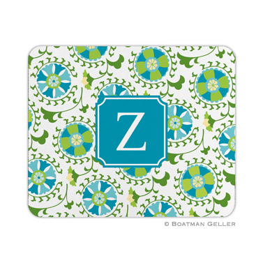 Suzani Teal Mouse Pad