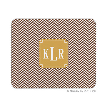 Herringbone Chocolate Mouse Pad