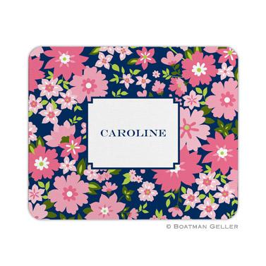 Caroline Floral Pink Mouse Pad