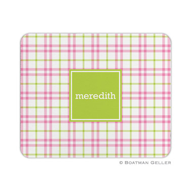Miller Check Pink & Green Mouse Pad
