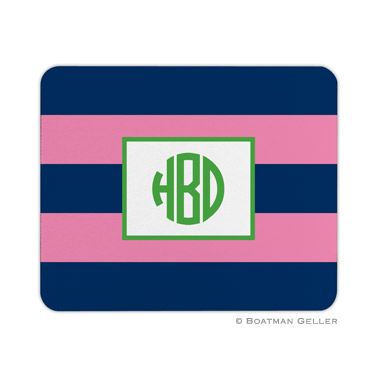 Rugby Navy & Pink Mouse Pad