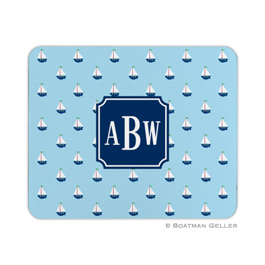 Little Sailboat Mouse Pad by Boatman Geller