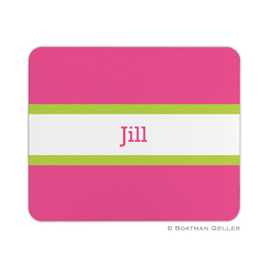 Stripe Raspberry & Lime Mouse Pad