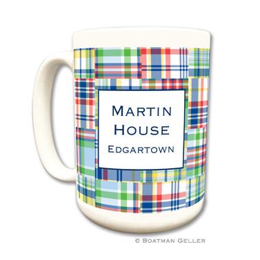 Madras Patch Blue Coffee Mug