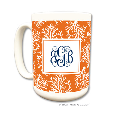 Coral Repeat Coffee Mug