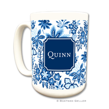 Classic Floral Blue Coffee Mug