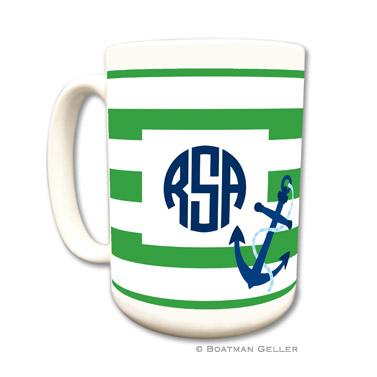 Stripe Anchor Coffee Mug by Boatman Geller