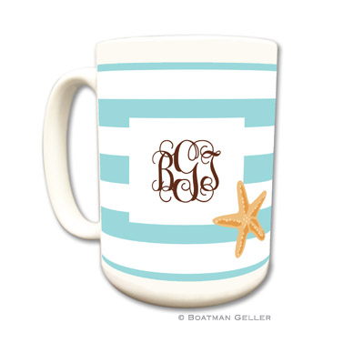 Stripe Starfish Coffee Mug