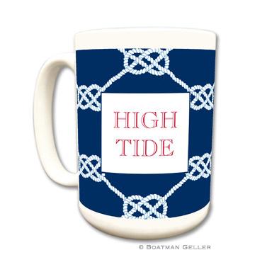 Nautical Knot Navy Coffee Mug