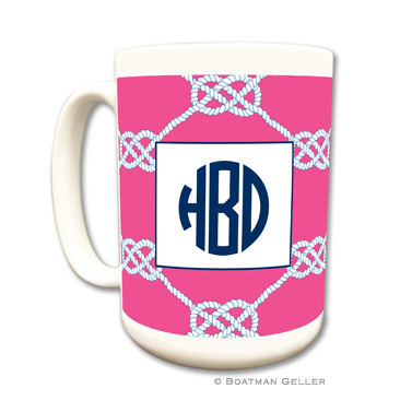Nautical Knot Raspberry Coffee Mug