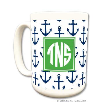 Anchors Navy Coffee Mug