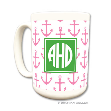 Anchors Pink Coffee Mug