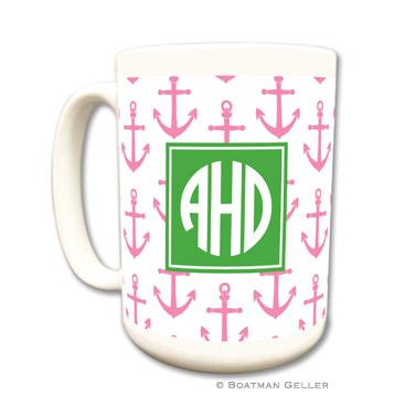 Anchors Pink Coffee Mug