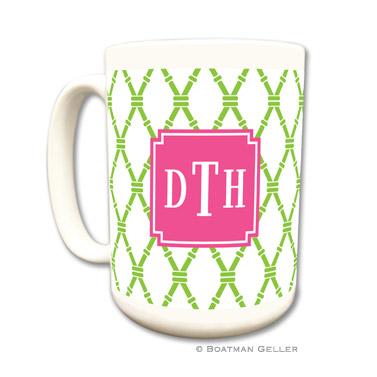 Bamboo Green & Raspberry Coffee Mug