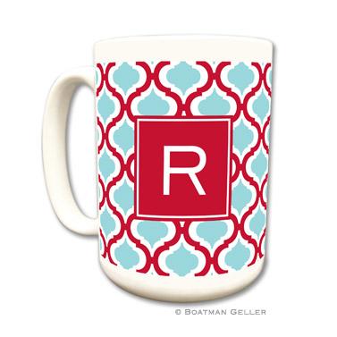 Kate Red & Teal Coffee Mug