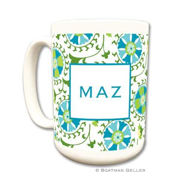 Suzani Teal Coffee Mug