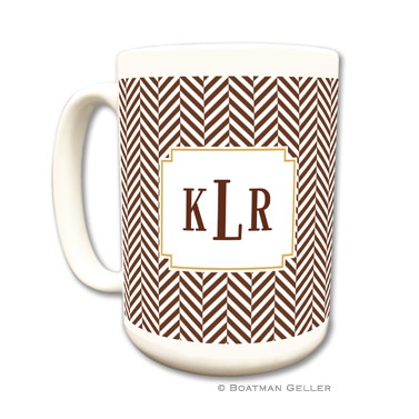 Herringbone Chocolate Coffee Mug