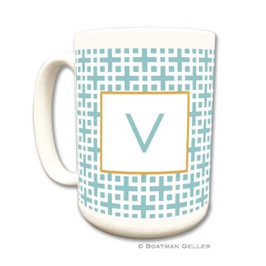 Lattice Slate Coffee Mug