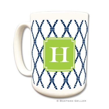 Bamboo Navy & Green Coffee Mug