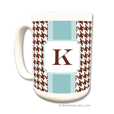 Alex Houndstooth Chocolate Coffee Mug
