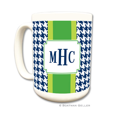 Alex Houndstooth Navy Coffee Mug