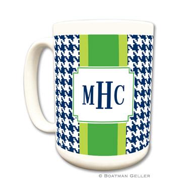 Alex Houndstooth Navy Coffee Mug