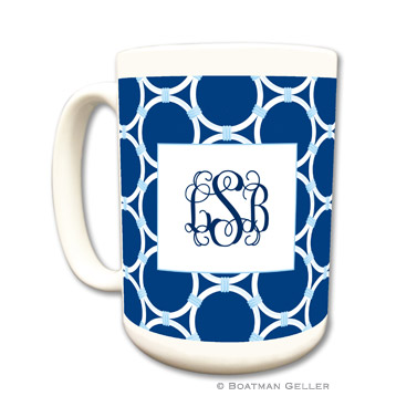 Bamboo Rings Navy Coffee Mug