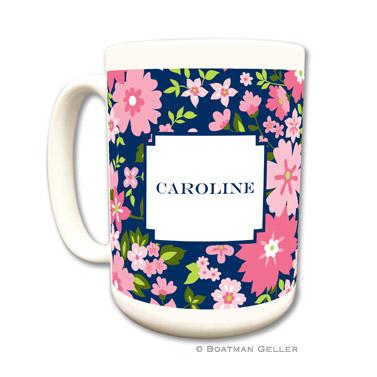 Caroline Floral Pink Coffee Mug