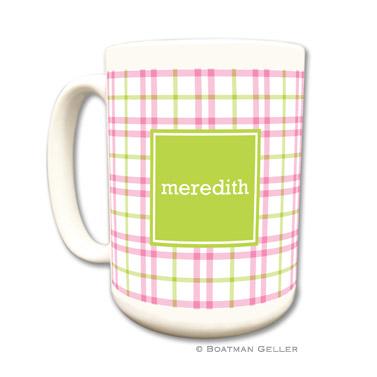 Miller Check Pink & Green Coffee Mug