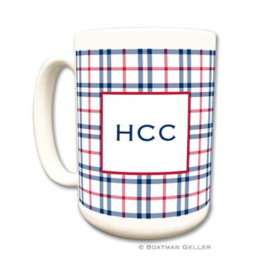 Miller Check Navy & Red Coffee Mug