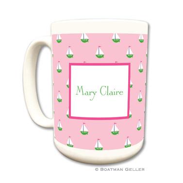 Little Sailboat Pink Coffee Mug