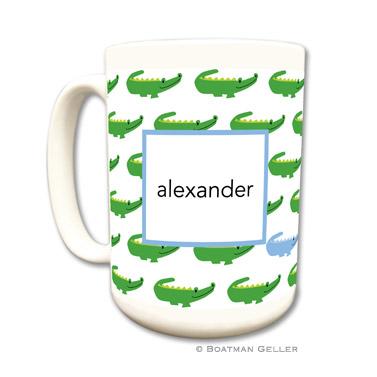 Alligator Repeat Blue Coffee Mug