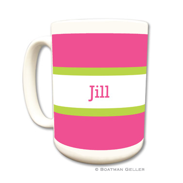 Stripe Raspberry & Lime Coffee Mug