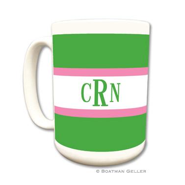Stripe Kelly & Bubblegum Coffee Mug by Boatman Geller
