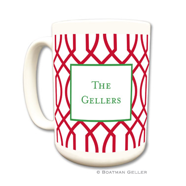 Trellis Reverse Cherry Mug by Boatman Geller