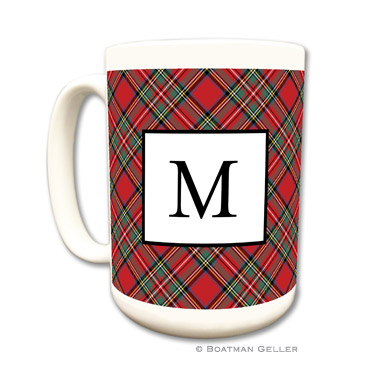 Plaid Red Mug