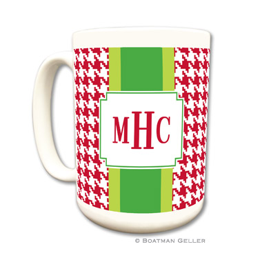 Alex Houndstooth Red Mug
