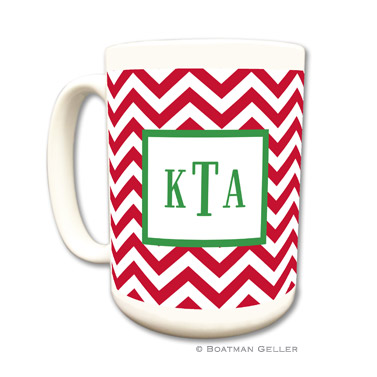 Chevron Red Mug
