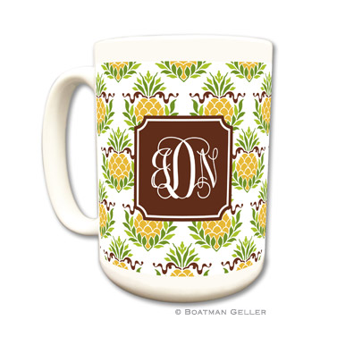 Pineapple Repeat Coffee Mug by Boatman Geller